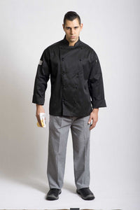 Black Traditional Long Sleeve Chef Jacket