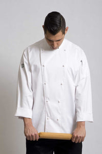Traditional White Long Sleeve Chef Jacket