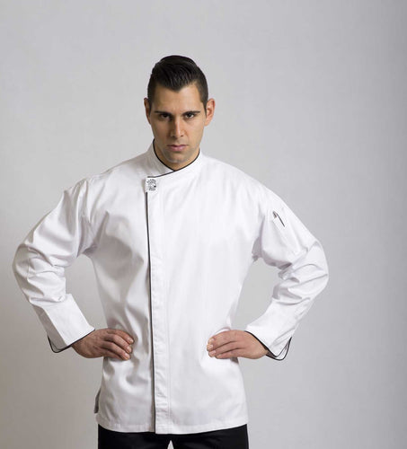 Modern (Black Trim) Long Sleeve Chef Jacket - Global Chef