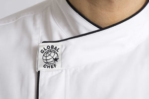 Modern (Black Trim) Long Sleeve Chef Jacket