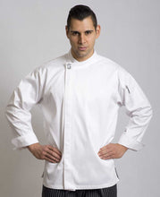 Load image into Gallery viewer, Modern White Long Sleeve Chef Jacket - Global Chef