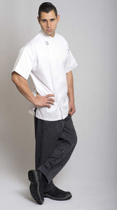 GC-Modern White Short Sleeve Chef Jacket