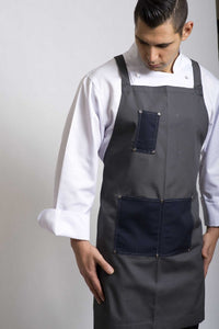 X-BACK Bib (Navy/Grey) - Global Chef