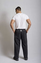 Load image into Gallery viewer, Black & White Pin Stripe Chef Pants