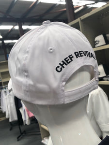 Chef Revival White Baseball Cap (Embroidered) - Global Chef