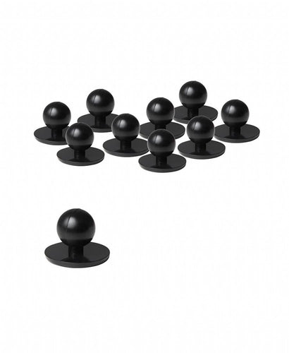 Chef Button Black (Pack of 10) - Global Chef
