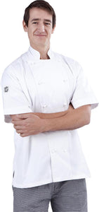 A110 White Short Sleeve Traditional Chef Jacket