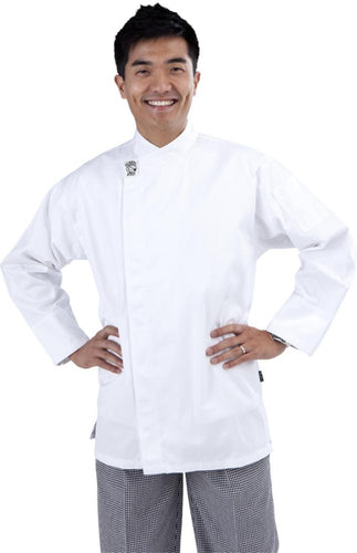 GC-Modern White Long Sleeve Chef Jacket
