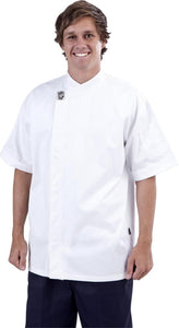 GC-Modern White Short Sleeve Chef Jacket - Global Chef