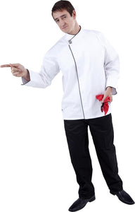 GC-Modern (Black Trim) Long Sleeve Chef Jacket