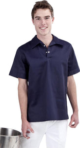 Navy Kitchen Shirt - Short Sleeve - Global Chef