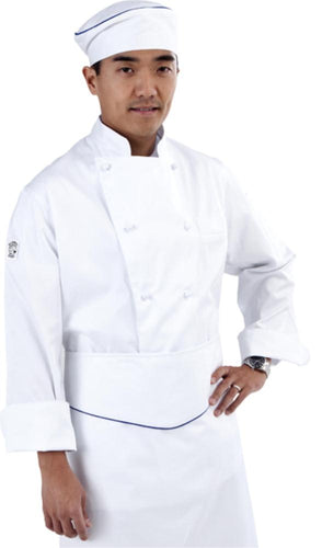 Classic (100% Cotton) White Long Sleeve Chef Jacket - Global Chef