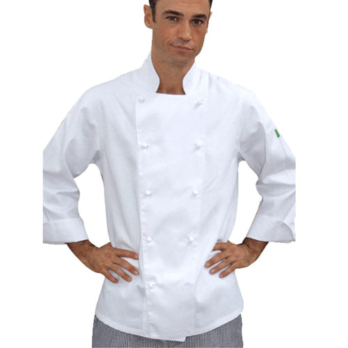 Brigade - Traditional White Long Sleeve Chef Jacket - Global Chef