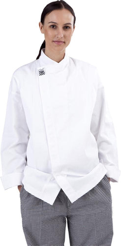 CR - Modern White Long Sleeve Chef Jacket - Global Chef