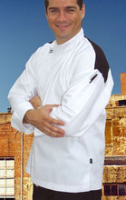 Load image into Gallery viewer, Chef Revival Modern Chef Jacket with black panel