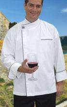 Load image into Gallery viewer, Chef Revival Modern Chef Jacket with Black Trim