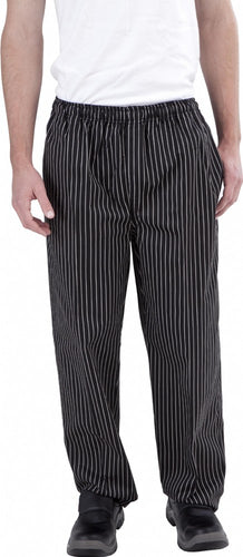 Black & White Pin Stripe Chef Pants - Global Chef