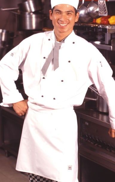 CR - Classic White (100% Cotton) Long Sleeve Chef Jacket