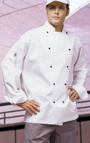 CR - Classic White Long Sleeve Chef Jacket