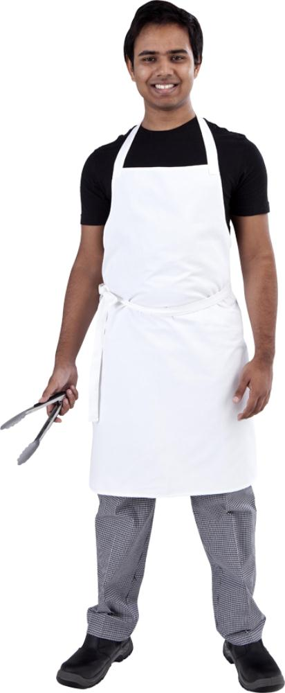 White Bib Chef Apron - Global Chef