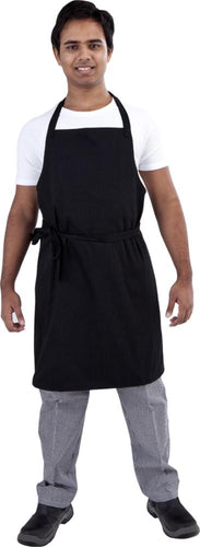 Black Bib Chef Apron - Global Chef