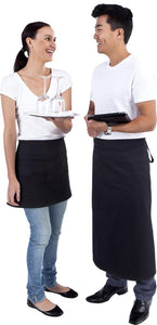 Long Black Waist 3/4 Apron (Pocket ) - Global Chef