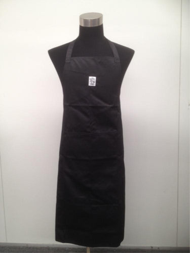 Full Length Black Bib Chefs Apron (Pocket) - Global Chef