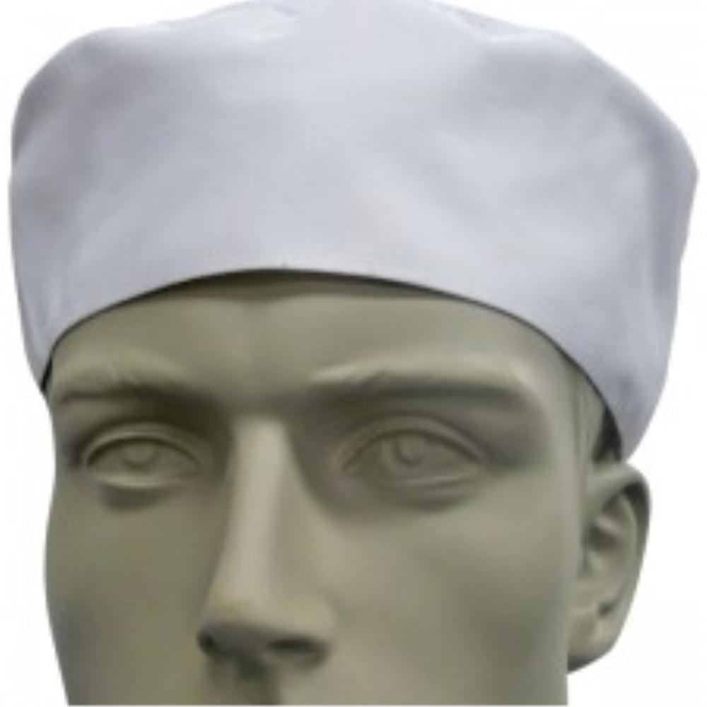 White Flat Top Chef Hat - Global Chef