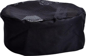 Black Mesh Top Chef Hat - Global Chef