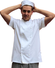 Load image into Gallery viewer, EPIC Light Weight Short Sleeve Chef Jacket - White - Global Chef