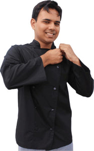 EPIC Light Weight Black Chef Jacket -  Long Sleeve - Global Chef