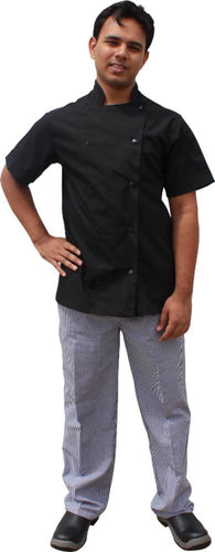 EPIC Light Weight Black Chef Jacket -  Short Sleeve - Global Chef