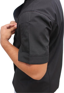 Side View Black Coloured Chef Jacket