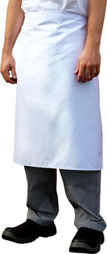 EPIC White Cooks Apron - 3/4 Waist - Global Chef