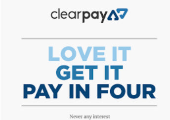 New Payment plan available via clear pay