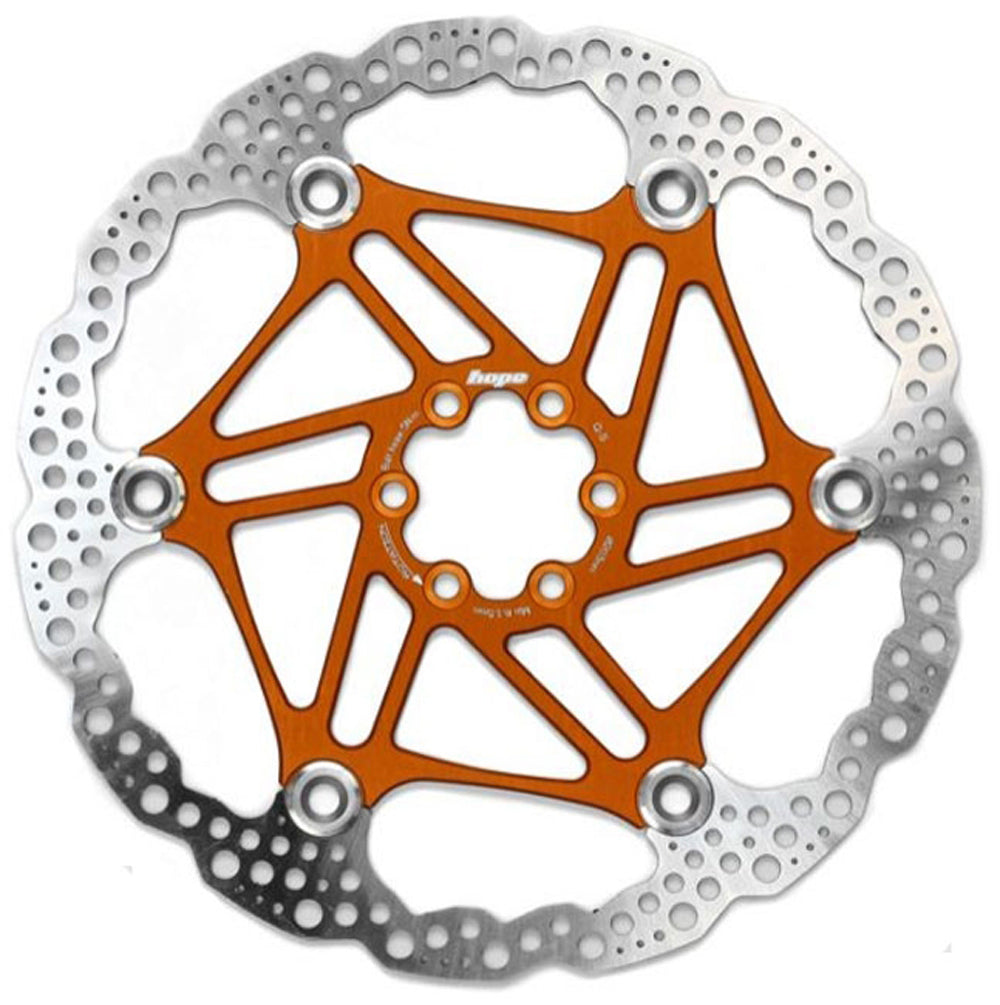 HOPE FLOATING DISC- 180MM 6 BOLT-FLOAT-ORANGE