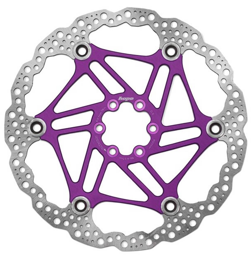 HOPE FLOATING DISC- 203MM 6 BOLT-FLOAT-PURPLE