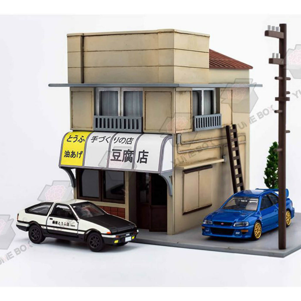 Initial D Tofu Shop with Lights Diorama Display Scene 1:64 - 164model