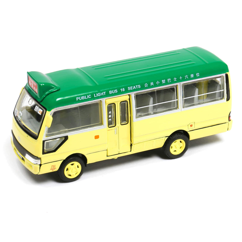 Tiny City 25 Die-cast Model Car - Toyota Coaster Green Minibus (SAI KUNG) - 164model
