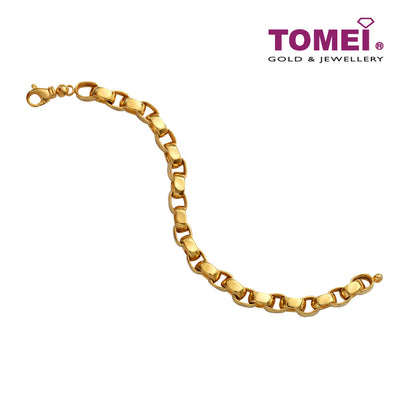[Online Exclusive] Flamboyantly Gleaming Bracelet | Tomei Yellow Gold 916 (22K) (VX4DCBCB202598-TC-3C)