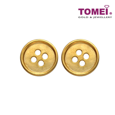 [Online Exclusive]Button Earrings |Tomei Yellow Gold 916 (22K) (XXE13192-1C)