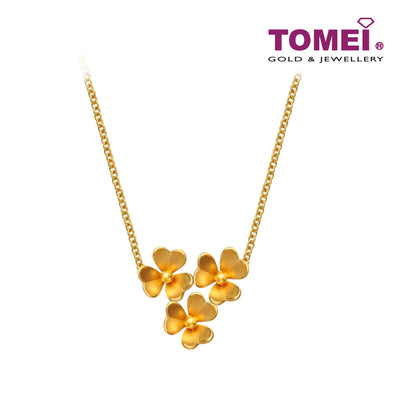 [Online Exclusive]Loves of Treble Floral Beauty Necklace | Tomei Yellow Gold 916 (22K) (EE0037-1C )