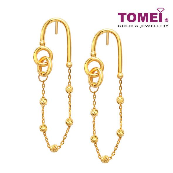 [Online Exclusive] Circular Connection in Motion Earrings | Tomei Yellow Gold 916 (22K) (X3TE11618-MDC-1C )