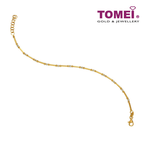 [Online Exclusive] Mini Spheres in Threefold Bracelet  | Tomei Yellow Gold 916 (22K) (IM-D4251BL-GB-2C )