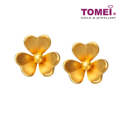 [Online Exclusive] Ray of Floral Beauty Earrings | Tomei Yellow Gold 916 (22K) (EE0037-1C )