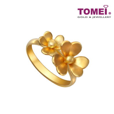 [Online Exclusive]Loves of Duo Floral Beauty Ring | Tomei Yellow Gold 916 (22K) (RR0037-1C)