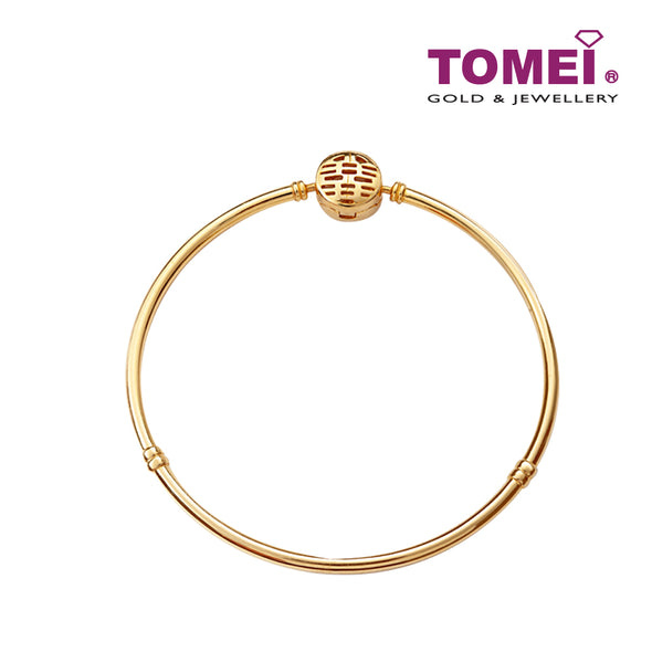Double Happiness Bangle | Double Happiness Wedding Collection | Tomei Yellow Gold 816 (22K) (9L0114048)