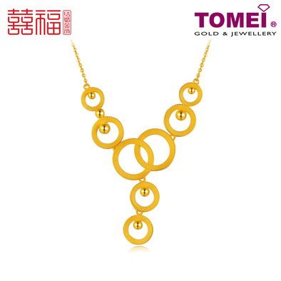 Tomei x Xifu Yellow Gold 999 (24K) The Circles of Bliss Necklace 幸福圈项链 (XF-XFQ-N)