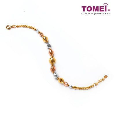 [Online Exclusive]Dazzling Discotheque Balls in Glittering Motion Bracelet | Tomei Yellow Gold 916 (22K) (AS-B2683-3C)