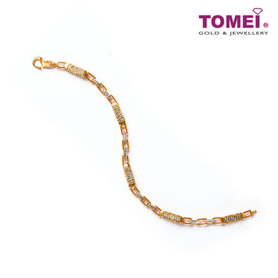 [Online Exclusive] Glitz and Glamour in Linearity Bracelet | Tomei Yellow Gold 916 (22K) (9M-DM-B6022-S-2C)